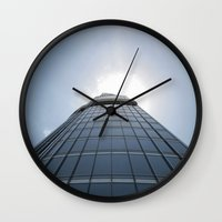 wiz khalifa Wall Clocks featuring Burj Khalifa by WikiArquitectura