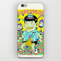 cafe iPhone & iPod Skins featuring cafe veloz by ALVAREZ