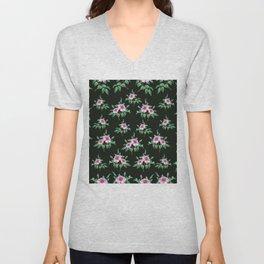 Floral background Unisex V-Neck