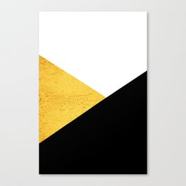 Gold & Black Geometry Canvas Print