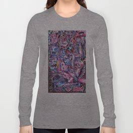 Blue & pink portrait.  Long Sleeve T-shirt