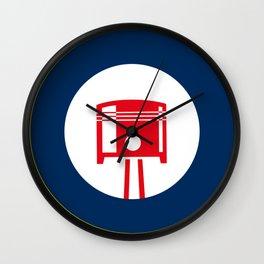 Piston roundel Wall Clock