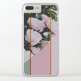 Pink Roses Palette Clear iPhone Case