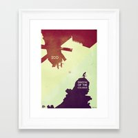 shadow of the colossus Framed Art Prints featuring Shadow of the Colossus & Ico by andbloom