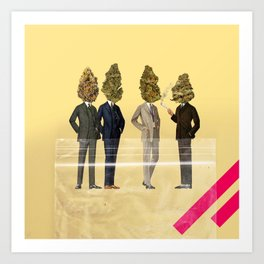 Gentlemen's Smoking Club Art Print