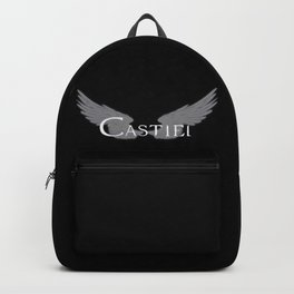 Castiel with Wings White Backpack