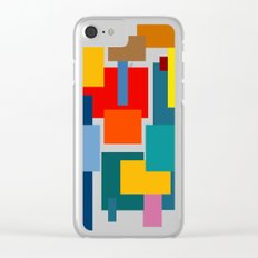 Abstract #8 Clear iPhone Case