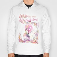 flamingos Hoodies featuring Flamingos  by Carvel