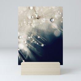 dandelion evening blue Mini Art Print