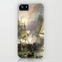 The Battle of Trafalgar iPhone Case