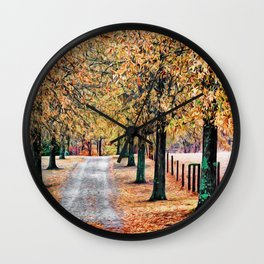Colorful Autumn Drive Wall Clock