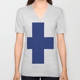 Finland flag emblem Unisex V-Neck