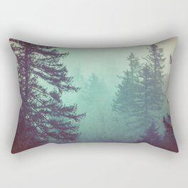 Forest Fog Fir Trees Rectangular Pillow