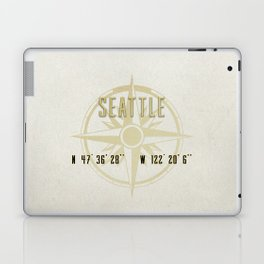 Seattle - Vintage Map and Location Laptop & iPad Skin