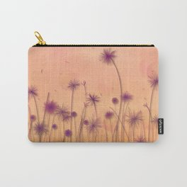 Dreamy Violet Dandelion Flower Garden Carry-All Pouch