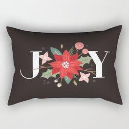 Joy Flourish - Slate Rectangular Pillow