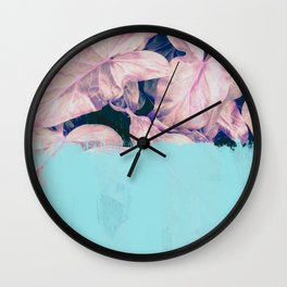 Teal Sorbet on Jungle Wall Clock