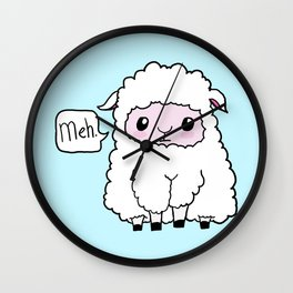 Sheep of indifference Wall Clock