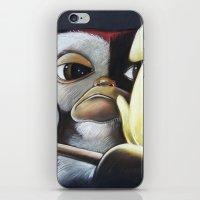 gizmo iPhone & iPod Skins featuring Gizmo Rambo by John McGlynn