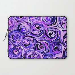 Violet and Lilac Paint Swirls Laptop Sleeve