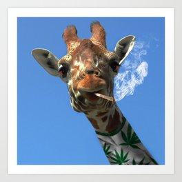 giraffe 4 Art Print