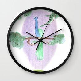 Peacock Prime Wall Clock
