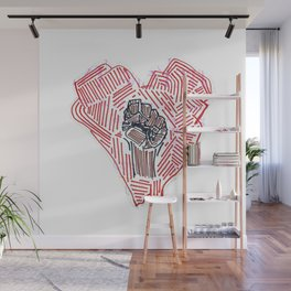 Untitled (Heart Fist) Wall Mural