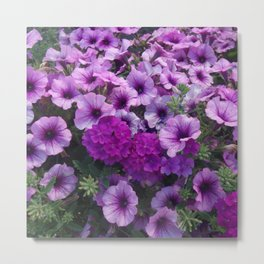 wonderful lilac flower mix Metal Print