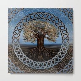 Tree of life -Yggdrasil drawing Metal Print