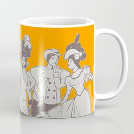 Vintage Ladies APRICOT / Vintage illustration redrawn and repurposed Coffee Mug