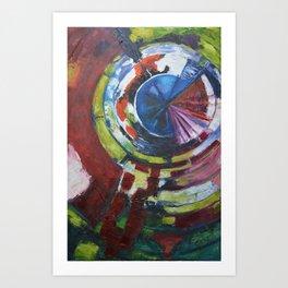 Kaleidoscope, original artwork, 24 X 30 Art Print