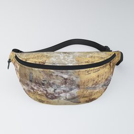 Abstract Guitar Watercolor on Sheet Music Fanny Pack