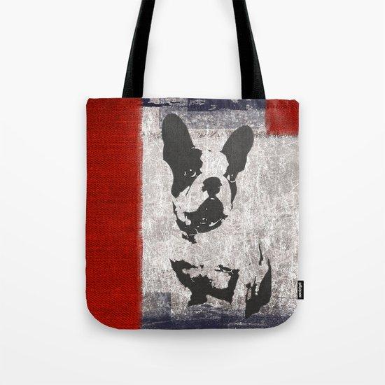 Bull dog red Tote Bag