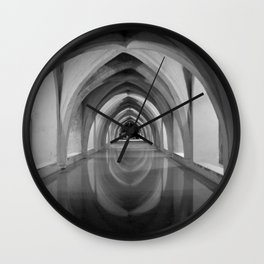 Black and white light and shadow VI Wall Clock