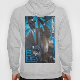 blues man with bass Hoody