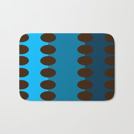 Coffee beans on blue Bath Mat