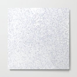 Silver glitter addiction Metal Print
