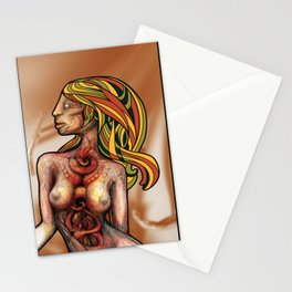 Churning Within Herself Stationery Cards