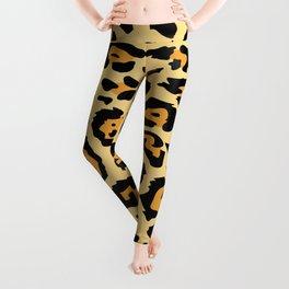 safari animal brown and tan cheetah leopard print Leggings