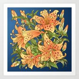 Tiger Lily Flowers Art Print