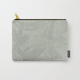 Minimalist Blue Whale Carry-All Pouch