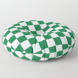 Checkered (Dark Green & White Pattern) Floor Pillow