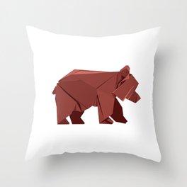 Origami Bear Throw Pillow