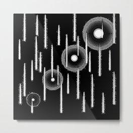 White Drops Metal Print