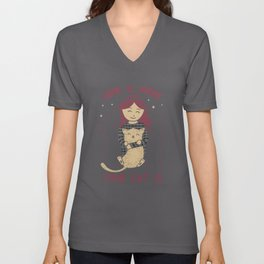 Home Is Where Your Cat Is Unisex V-Neck