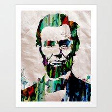Abraham Lincoln 2017 Watercolor President Art Painting Pop ART Art Print