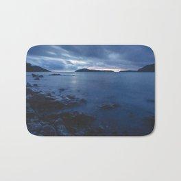 Blue Sunset on the Water, New Zealand Bath Mat