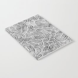 Grey and white swirls doodles Notebook