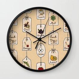 Tea Tag Time Wall Clock