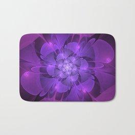 Purple Dew Drops | Abstract digital flower Bath Mat